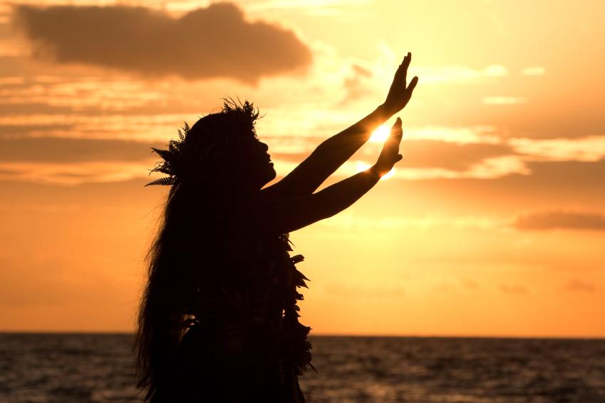 Hawaiian sunset. Move your home to Hawaii