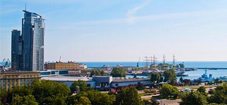 Shipping Port in Gdynia, Poland