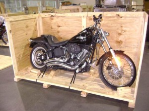 Shipping Crated Motorcycle