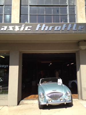 Classic Car at the Classic Throttle Shop