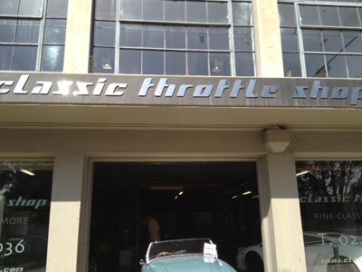 Image of the Classic Throttle Shop exterior- by Schumacher Cargo