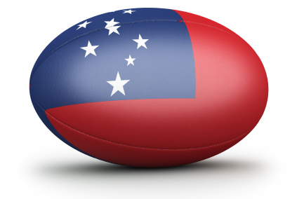 Image of Samoan Rugby ball by Schumacher Cargo. Rugby is the most popular sport and a integral part of Samoan culture and tradition.