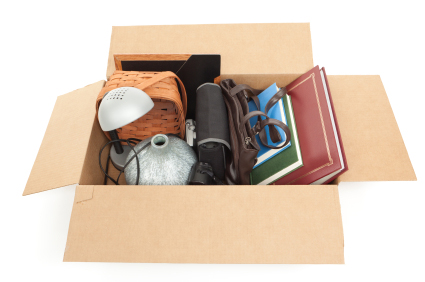 Box of Household Goods packed carefully