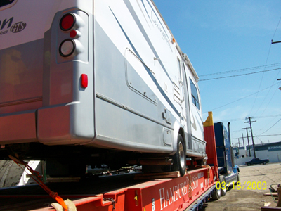 RV Shipping on Flat Rack