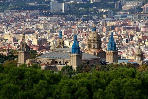 University in Barcelona Spain Skyline