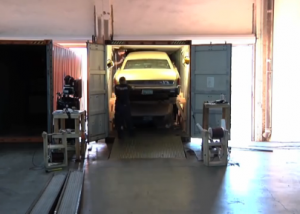 car loading in 40ft container
