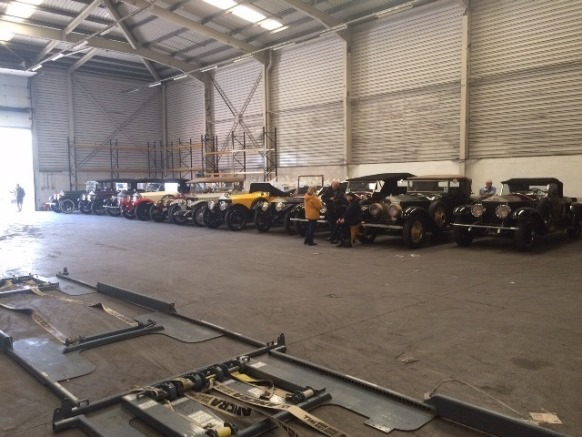 Rolls Royce Silver Ghosts in Warehouse