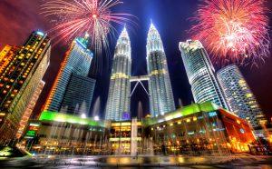 Malaysia City Fireworks