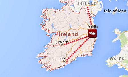 ireland car shipping via dublin
