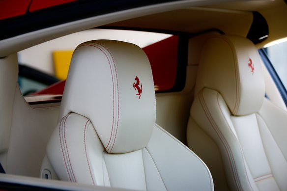 Best Supercar Ferrari with white leather interior