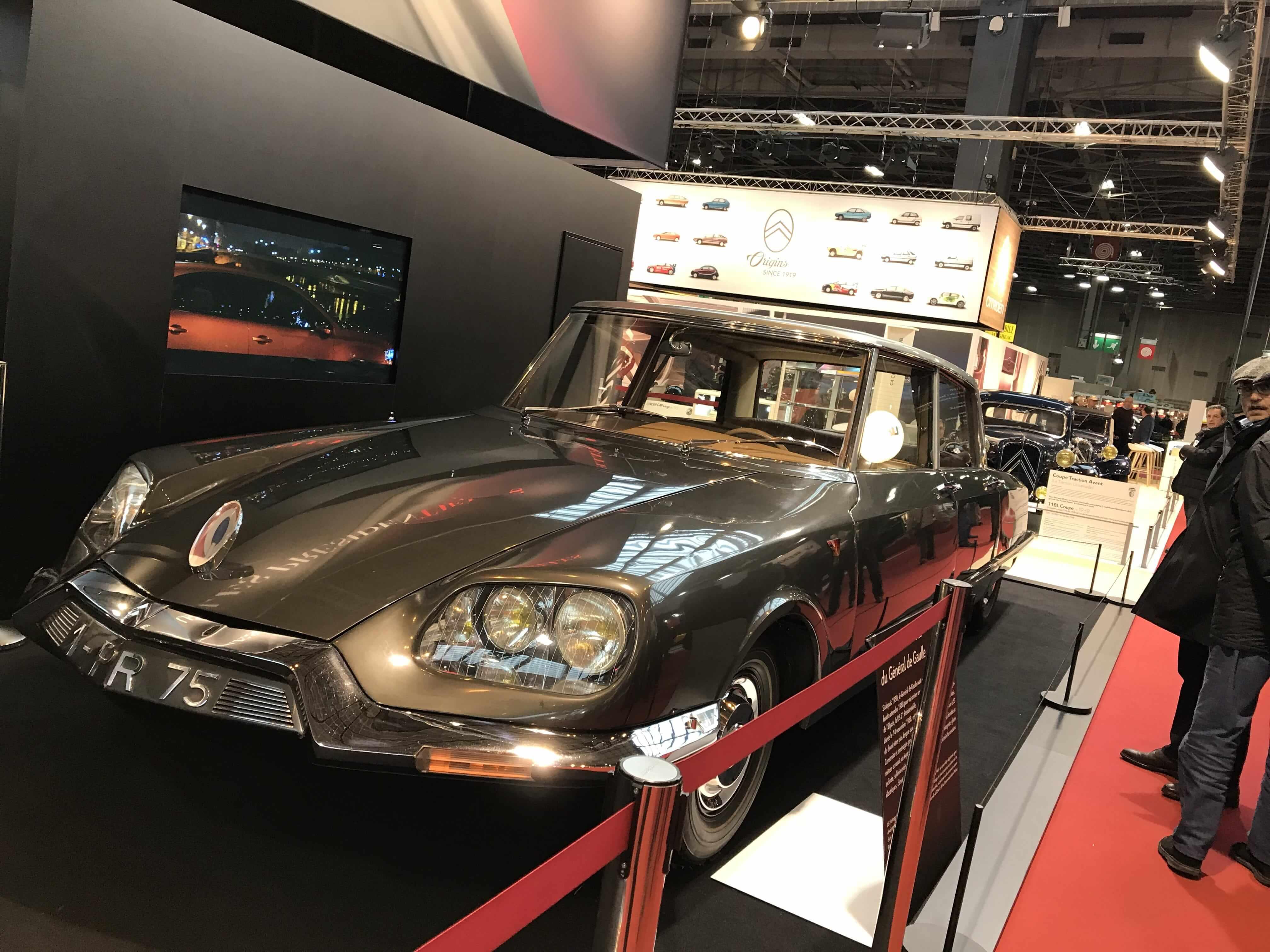 Retromobile 2018: Charles de Gaulle's Citroen Limousine