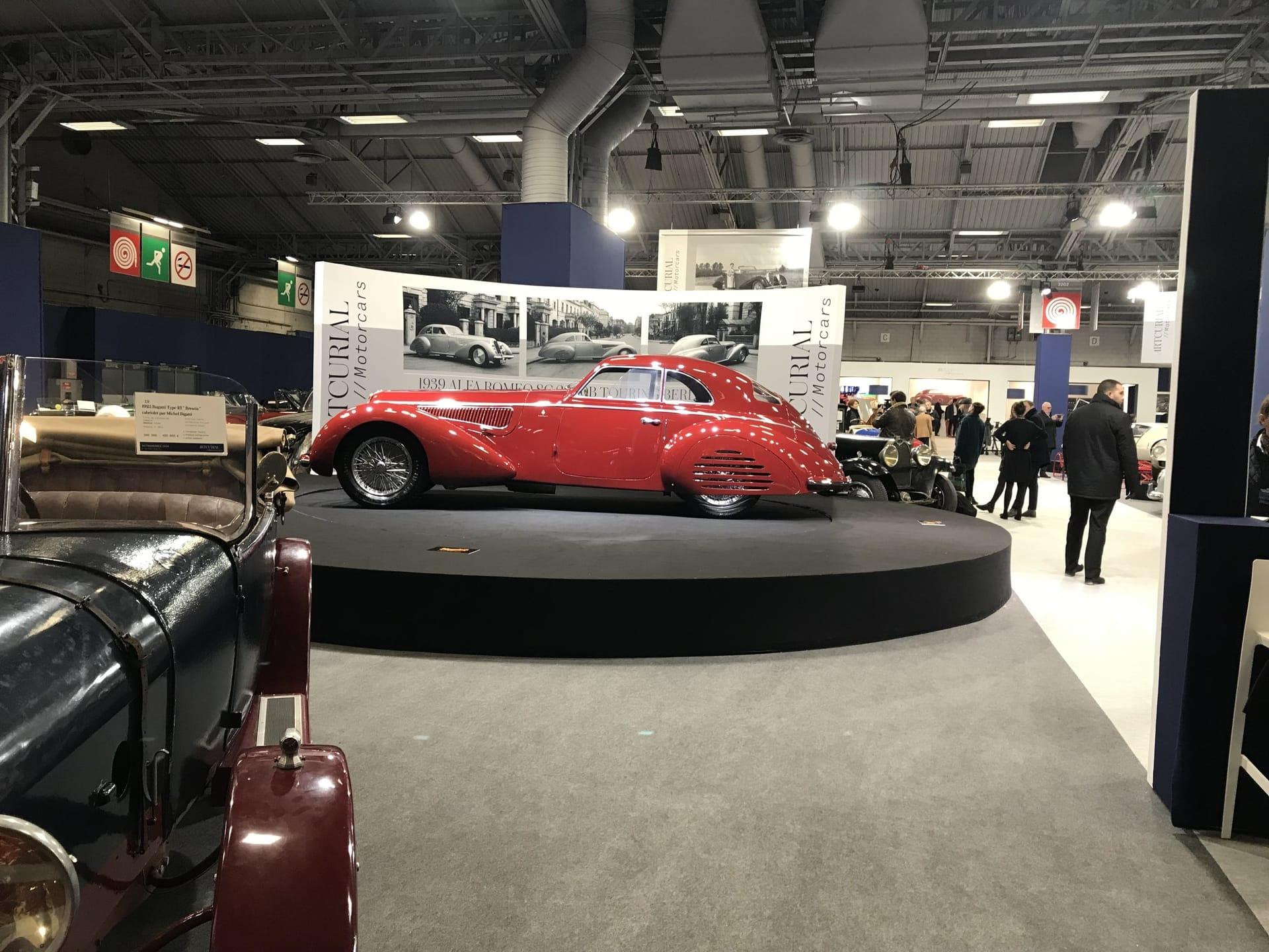 The 1939 Alfa Romeo 8C 2900B Touring Berlinetta for auction at 16-22 million euros.
