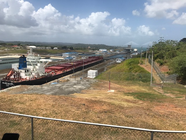 A Ship Dropping 26 m into the Panama Canal