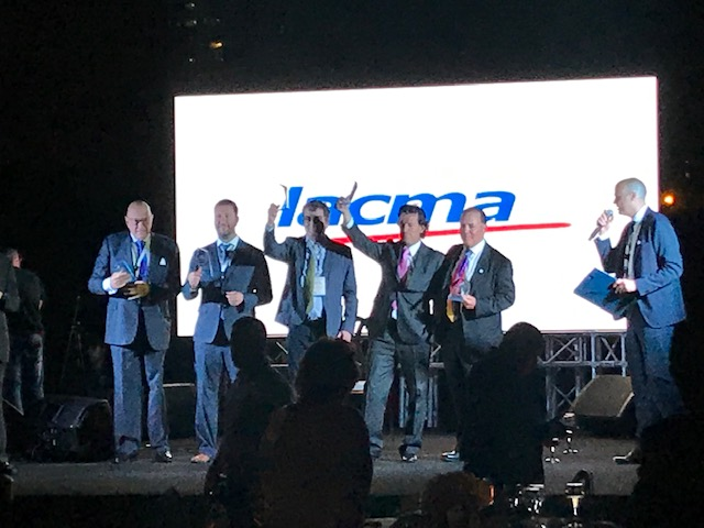 The award ceremony for the LACMA convention in Panama