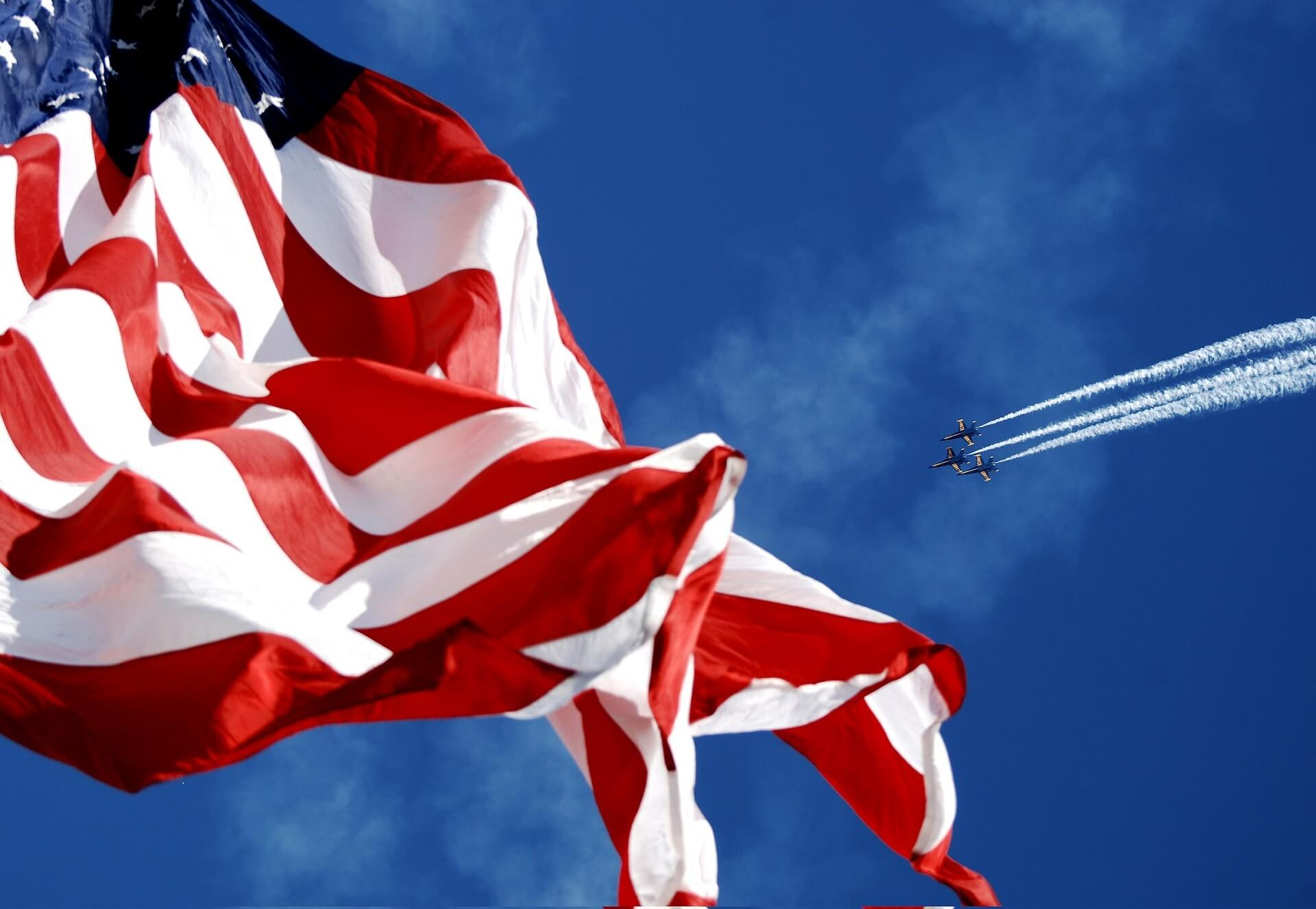 Jet Flying By the American Flag PCS Germany