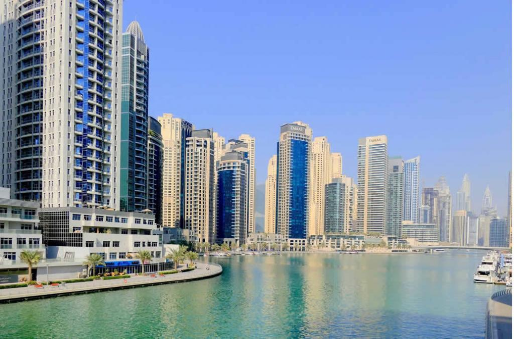 Moving to UAE: Dubai Skyline Overlooking Ocean