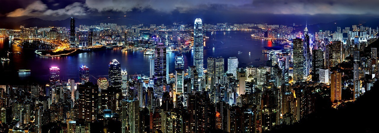 Moving to Hong Kong from USA Skyline Panoramic View