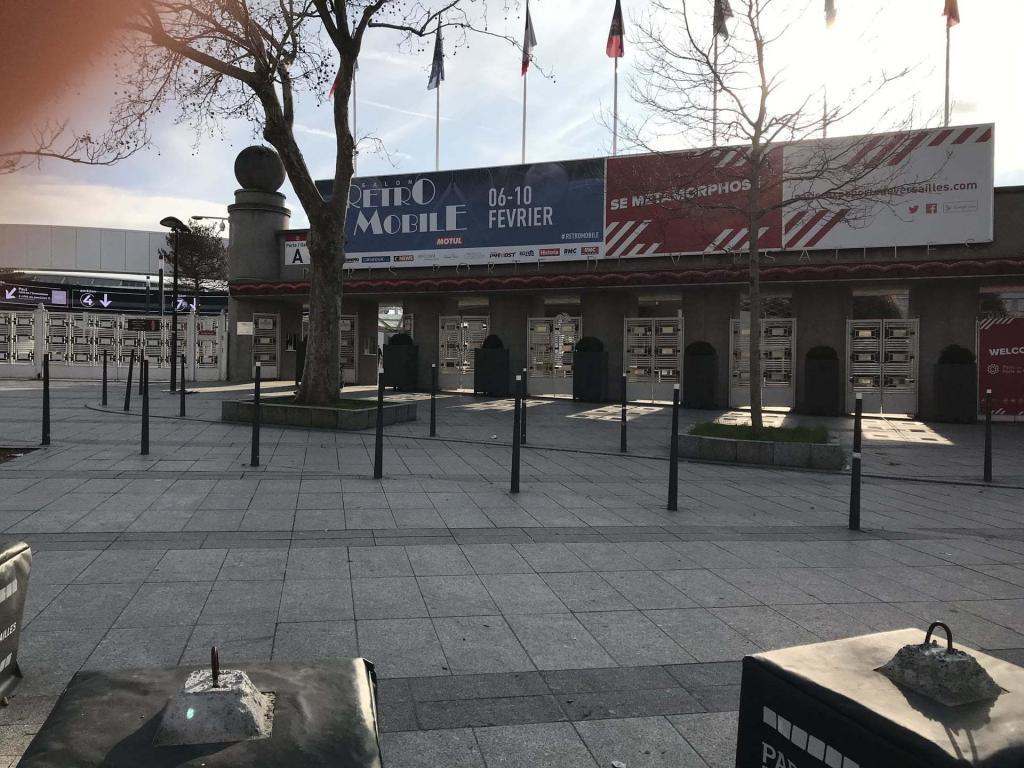 Front of Retromobile 2019 Entrance