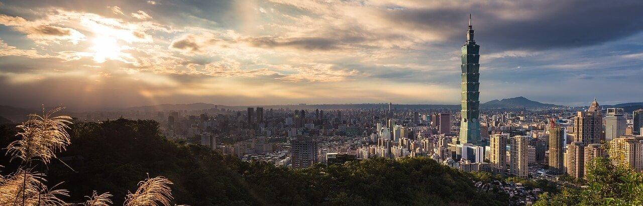 Moving To Taiwan Panaoramic Building Skyline Taipei