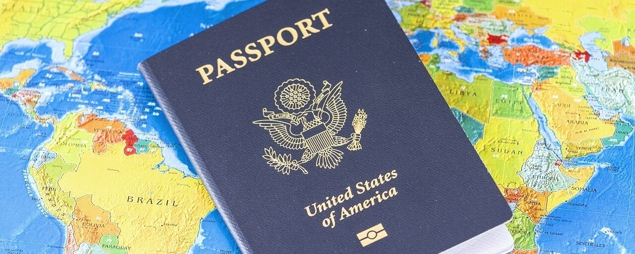 Adapt to New Cultures Overseas: Passport on World Map