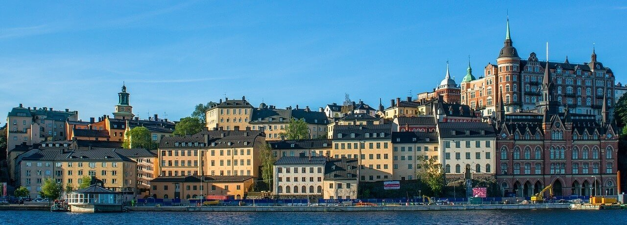 Moving To Sweden Stockholm Waterfront City View Panoramic