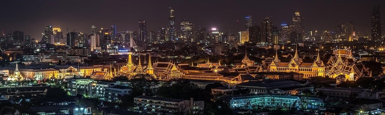 Moving to Thailand Bangkok at Night Skyline