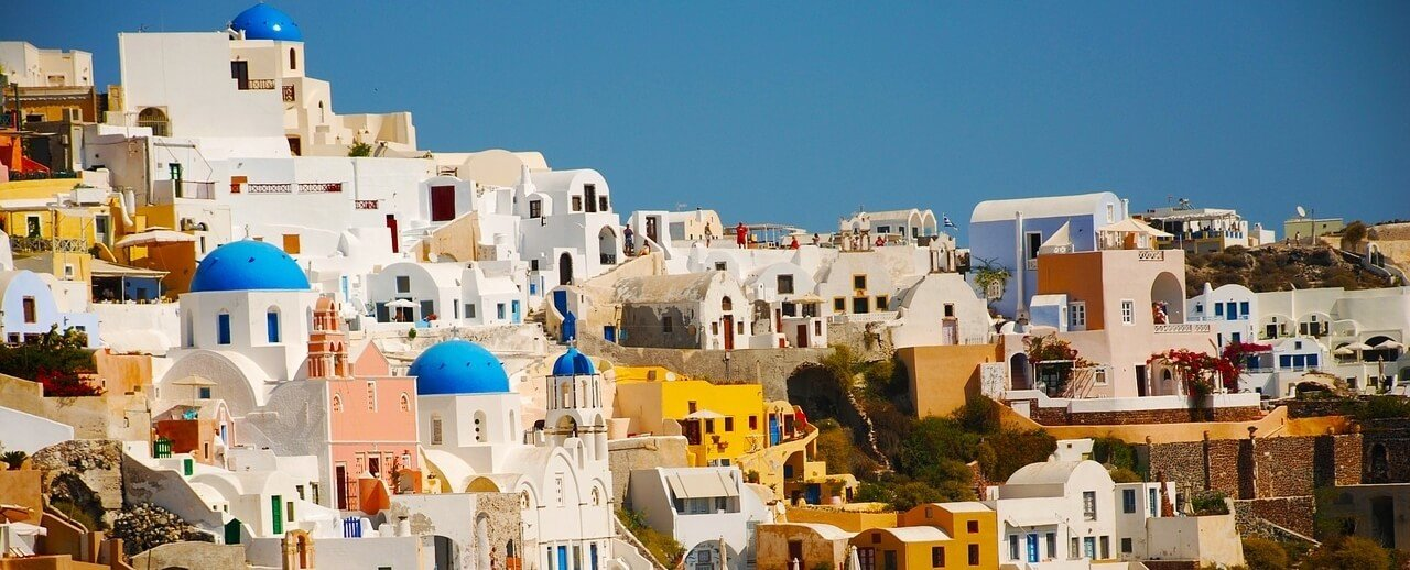 moving to greece santorini island mountain Cyclades islands
