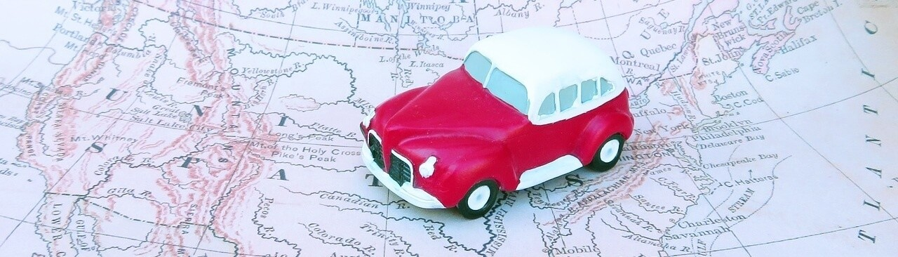 Importing and Exporting Cars and Other Vehicles Red Car US Map