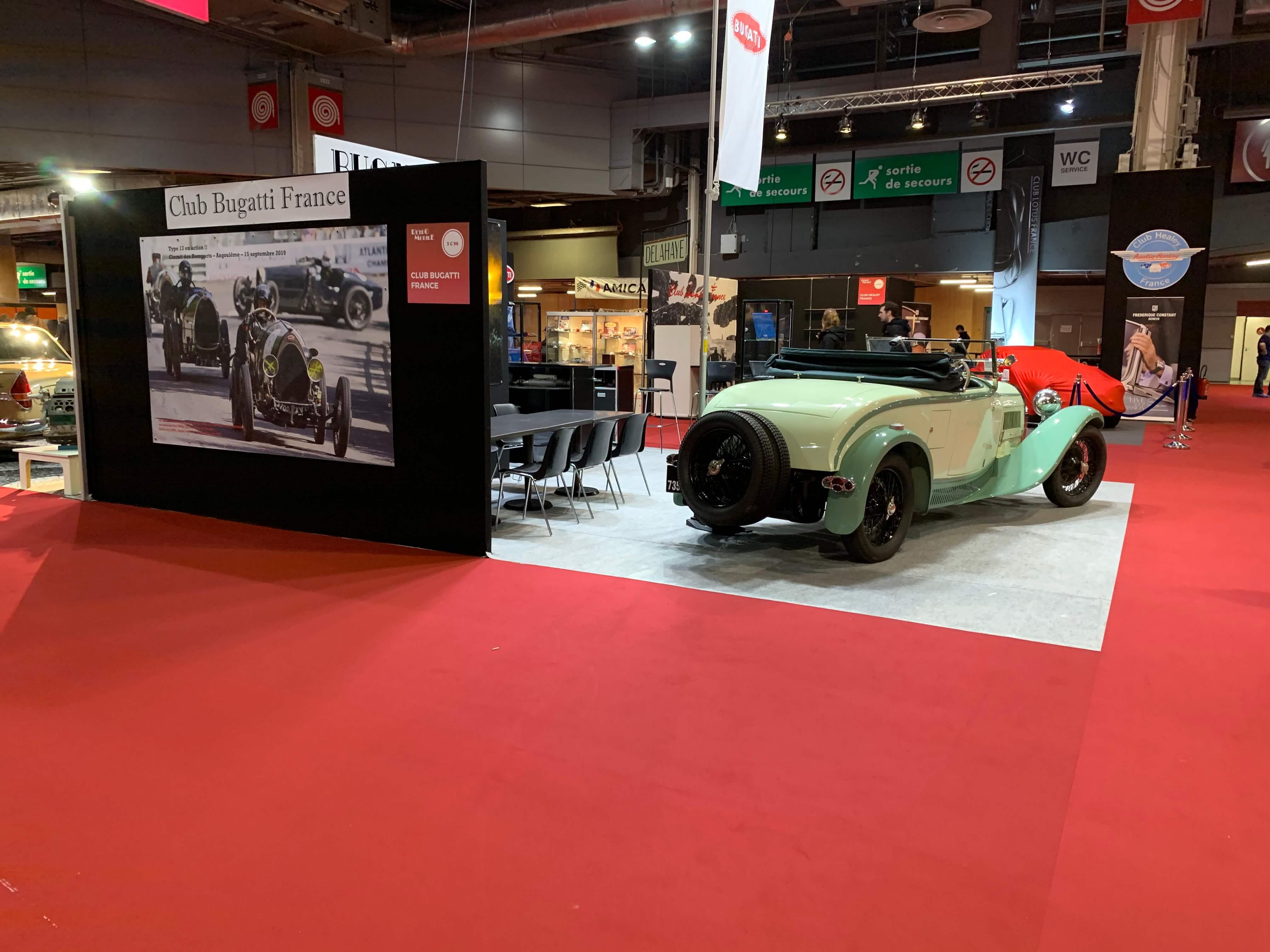 in2 teal bugatti T44 Roadster