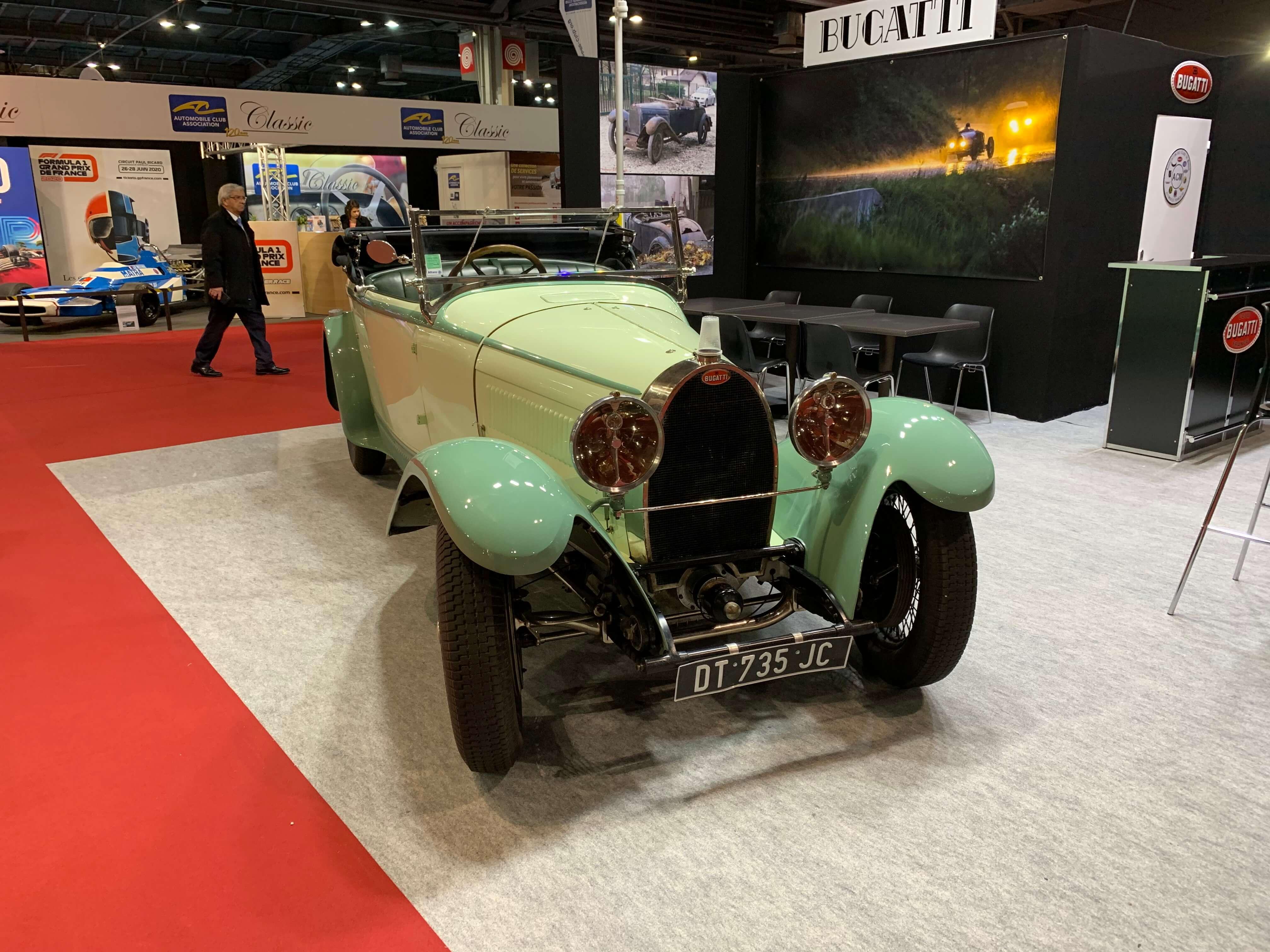 in3 teal bugatti T44 Roadster