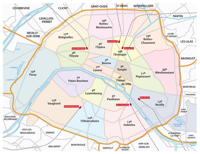 Administrative Communes in Paris